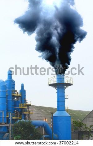 Black Smoke - stock photo