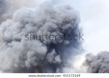 Black smoke cloud (select focus) - stock photo