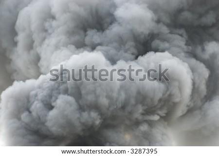 Black smoke cloud series - 01 - stock photo