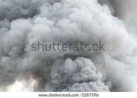 Black smoke cloud series - 02 - stock photo