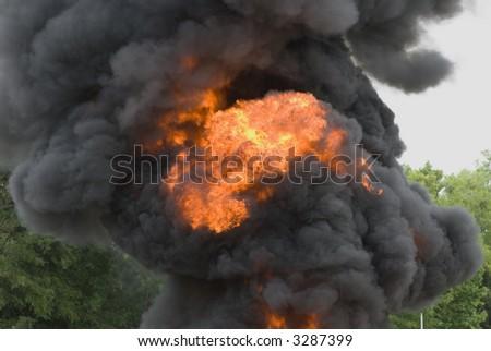 Black smoke cloud series - 05 - stock photo