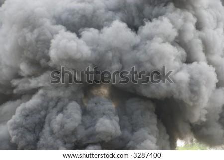 Black smoke cloud series - 06 - stock photo