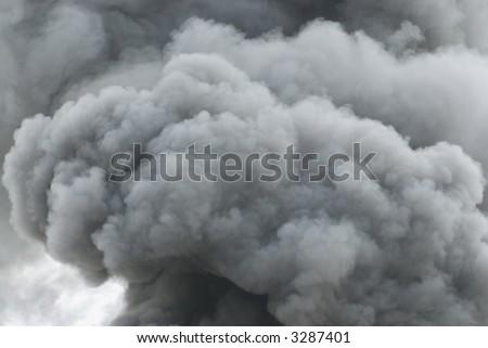 Black smoke cloud series - 07 - stock photo