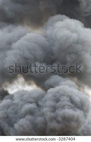 Black smoke cloud series - 10 - stock photo