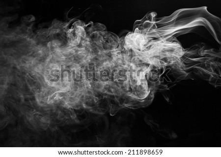Black smoke is pollution - stock photo