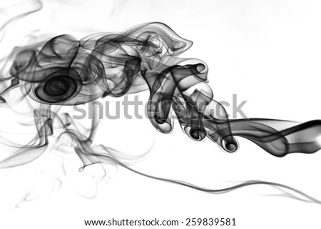 black smoke on white background texture