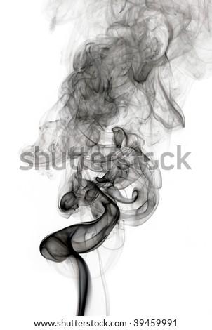 Black smoke wave - stock photo