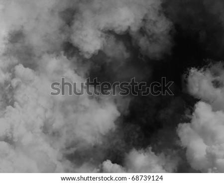 Black smoky background - stock photo