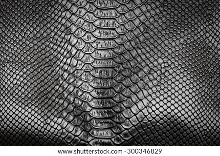 Black snake skin pattern texture background - stock photo