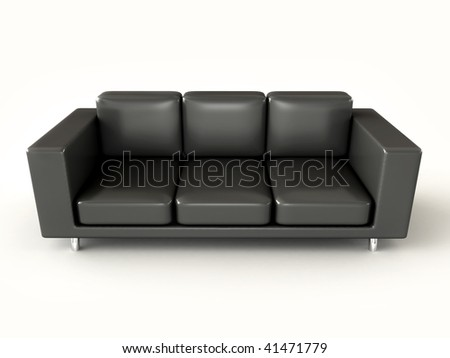 Black sofa - stock photo