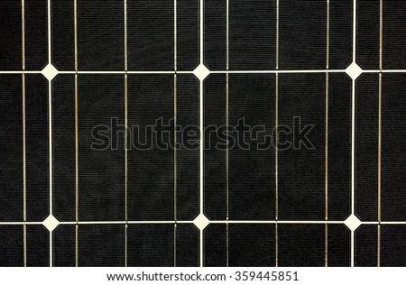 Black Solar Cell Texture Background - stock photo