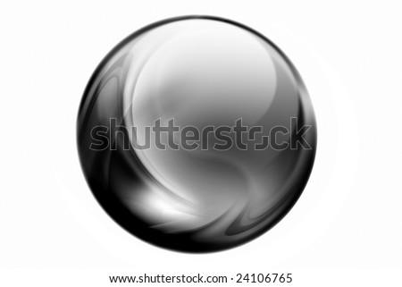 black sphere - stock photo