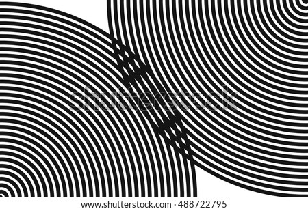 black spiral on a white background