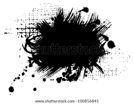 Black stains - stock photo