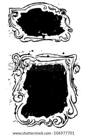 Black stains. Raster - stock photo