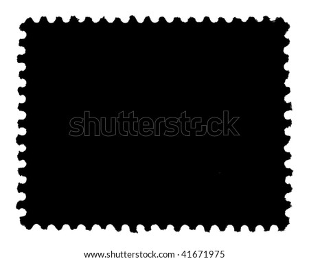 First Class Postage Stamp Generic Template Stock Illustration