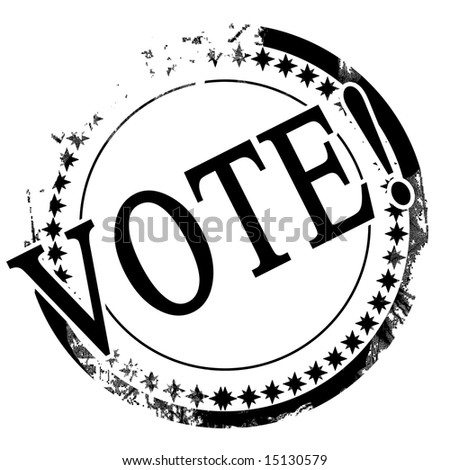 black stamp with vote written on it - stock photo