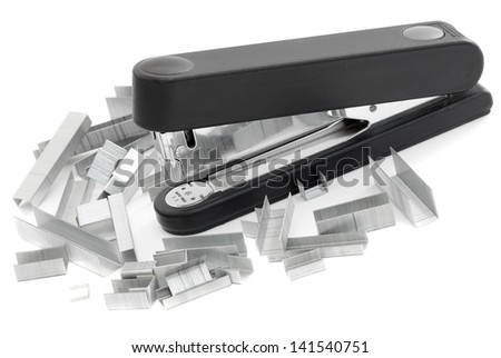 Black stapler and staples are many different