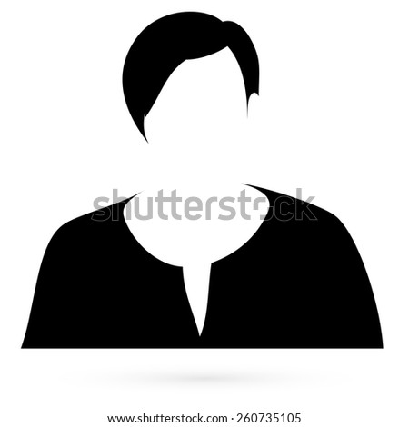 Black stencil women. Raster Raster  - stock photo