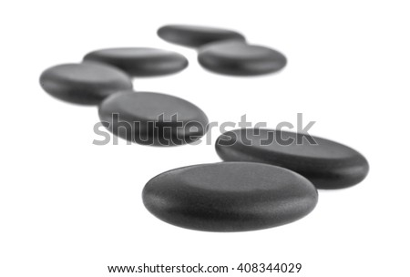 black stone are isolated on a white background - stock photo