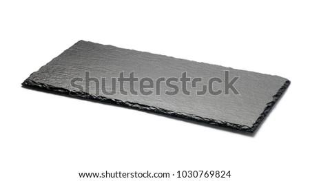 black stone plate on white background stock photo edit now