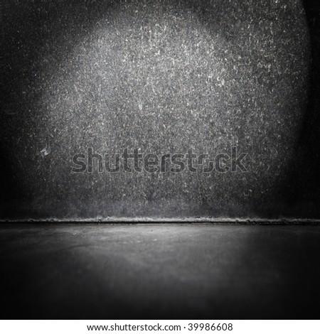Black stone room - stock photo