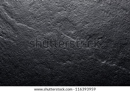 Black stone surface, granit, background, wallpaper - stock photo