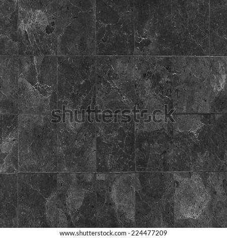 black stones tiled floor - stock photo