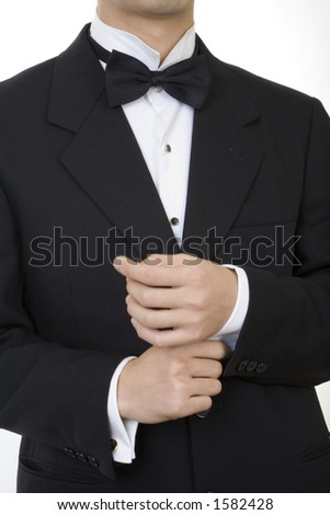 Black suit 1, tying cuffling