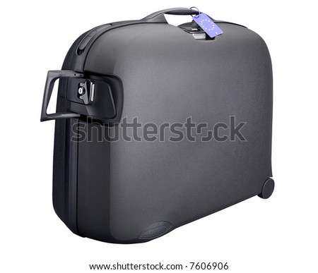 Black Suitcase - isolated on white