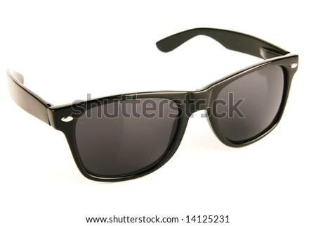 Black sunglasses isolated - stock photo
