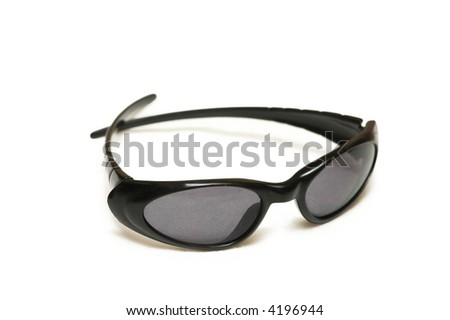 Black sunglasses isolated on the white background - look for other sunglasses in my portfolio