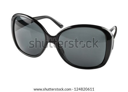 Black sunglasses on a white background. Clipping path included - stock photo