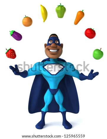 Black superhero - stock photo