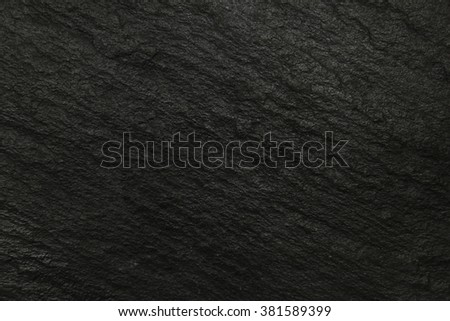 Black surface of slate, stone background - stock photo