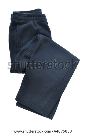 Black Sweatpants Isolated on a White Background