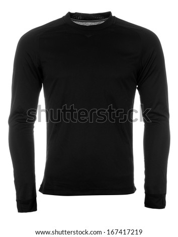 Black sweatshirt - stock photo