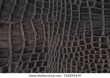 Black synthetic leather with embossed texture - stock photo