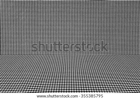 black tablecloth texture, background with copy space (The pattern on this fabric is common in Thailand and is not subjected to copyright) - stock photo