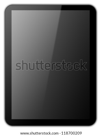Black tablet - stock photo