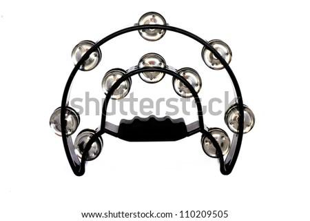 Black Tambourine - stock photo