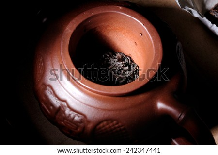 black tea - stock photo