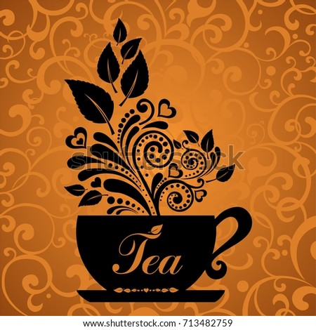http://thumb7.shutterstock.com/display_pic_with_logo/154612/713482759/stock-photo-black-tea-ad-hot-tea-cute-tea-time-card-cup-with-floral-design-elements-menu-for-restaurant-713482759.jpg