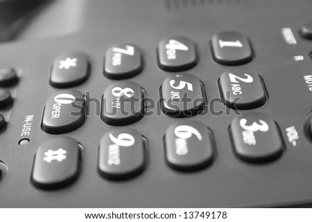 black telephone keypad - stock photo
