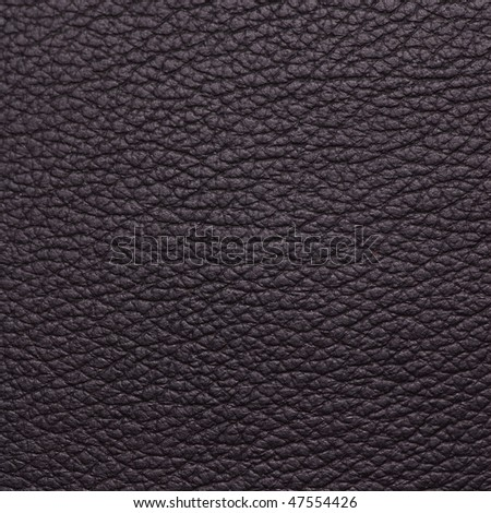 Black textured leather surface - stock photo
