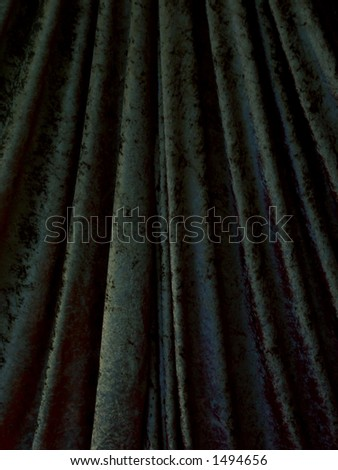 Black theater curtain - stock photo
