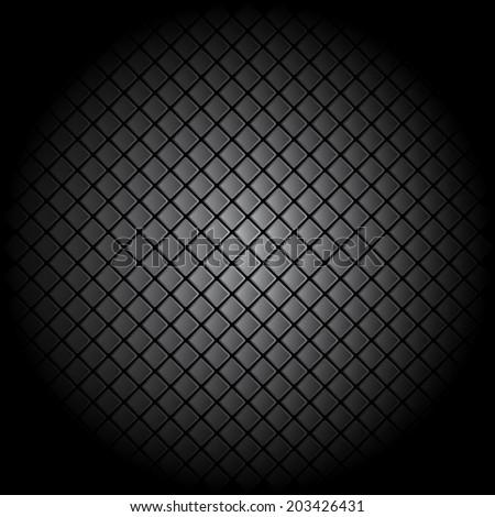 Black tile background pattern illustration - stock photo