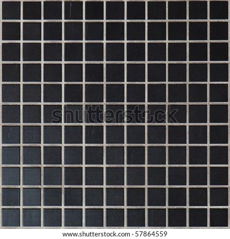 Black tile texture - stock photo