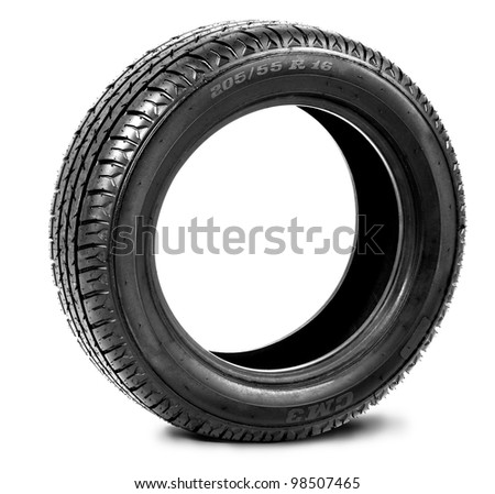 black tire - stock photo