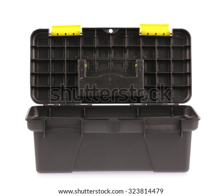 Black toolbox isolated on white background